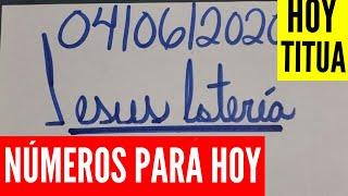 NUMEROS PARA HOY 04/06/2020 DE JUNIO PARA TODAS LAS LOTERÍAS !!! JESUS LOTERIA.