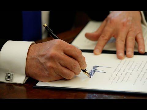 trump signs pipeline order
