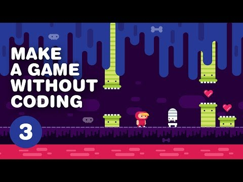 How to MAKE A VIDEO GAME without coding - 2D Platformer - Construct 3 Tutorial For Beginners PART 3