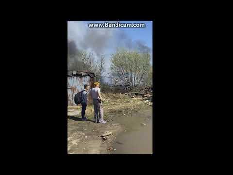 Пожар за ж/д вокзалом в Сыктывкаре, 13 мая