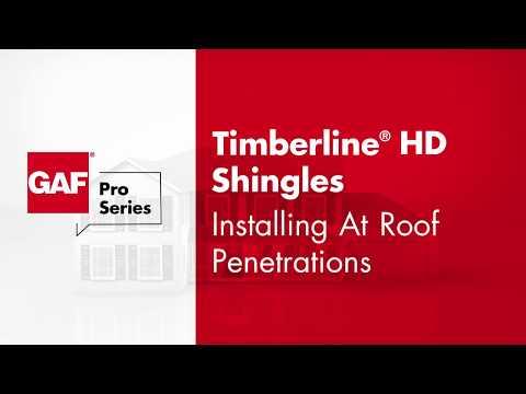 GAF Pro Series Timberline® Shingles Roof Penetration