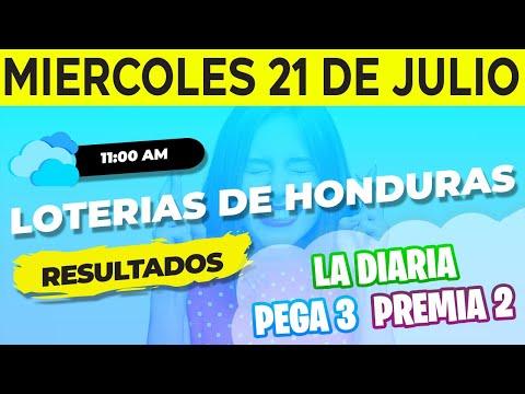 Sorteo 11AM Loto Honduras, La Diaria, Pega 3, Premia 2, Miércoles 21 de Julio del 2021 | Ganador
