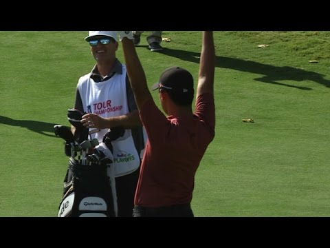 Si Woo Kim's dramatic finish on No. 18 at the TOUR Championship