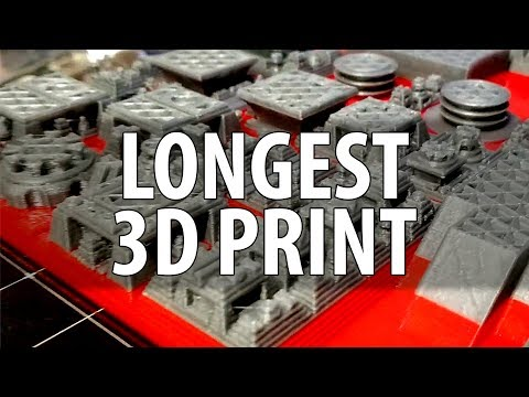My Longest 3D Print Ever! 3D Printing HUGE Space City!
