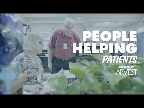 David McIntosh Volunteers in ER – People Helping People Created by Arvest Bank