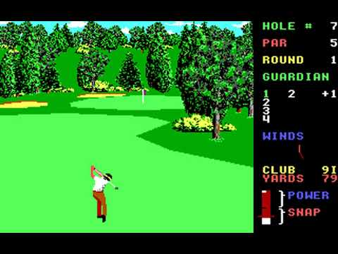 World Class Leader Board (Course P: Banff Springs) (Access) (MS-DOS) [1989] [PC Longplay]