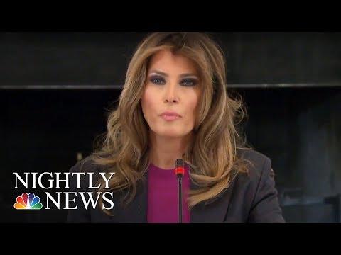 Melania Trump Addresses Critics At Cyberbullying Summit   NBC Nightly News
