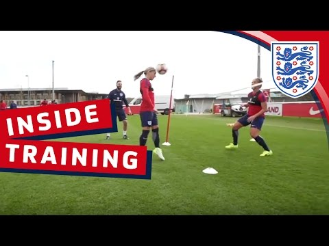 Football tennis with the Lionesses | Inside Training