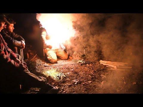 New Bushcraft Camp - Tough Bowdrill | Epic Battle!