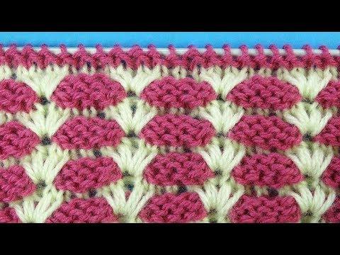 Классный узор спицами   Knitting stitches   Вариации Уроки вязания  55