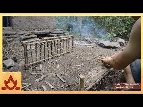 Primitive Technology: Woven bark fiber Poster