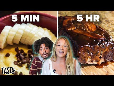 5-Hour vs. 5-Minute Banana Bread ? Tasty
