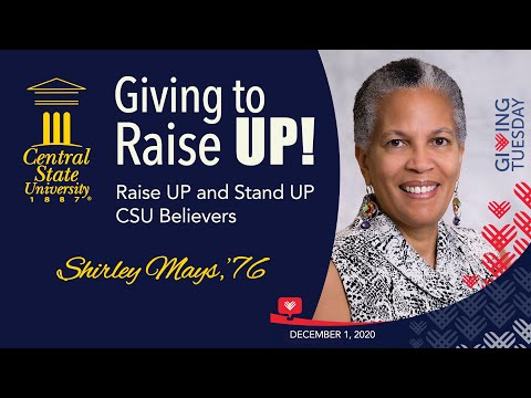 Giving to Raise UP! - Alumna Shirley Mays
