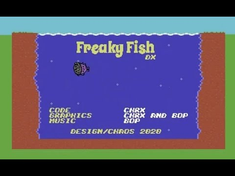 RETROJuegos Homebrew / Freaky Fish DX © 2020 Design Chaos / Commodore 64