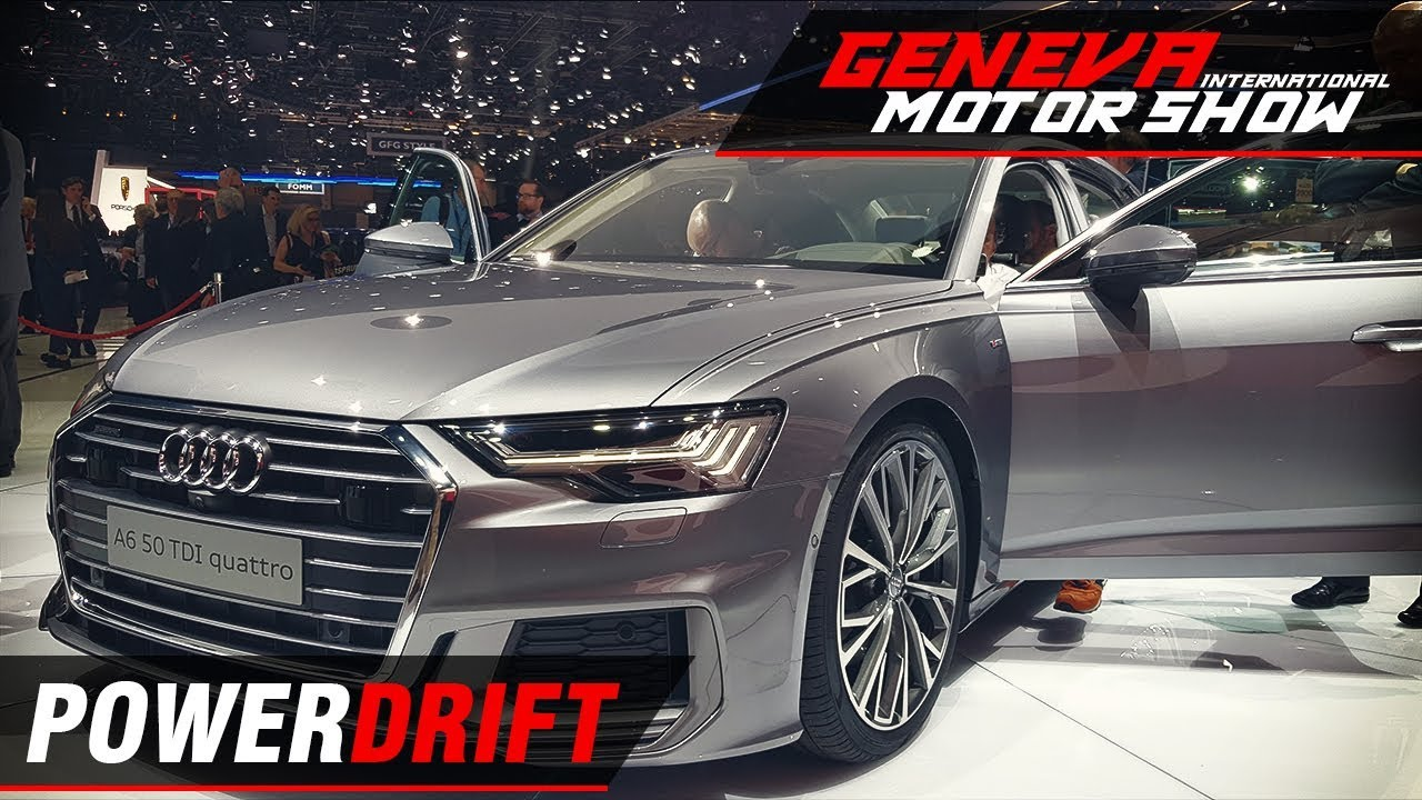 ऑडी ए6 - business class revisited : geneva motor show 2018 : powerdrift