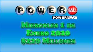 Resultados Powerball 1 de Enero del 2020 $220 Millones de dolares y resultados anteriores 28, 25, 21
