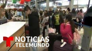 116 millones de viajeros: Se espera congestionamiento récord en aeropuertos   Noticias Telemundo