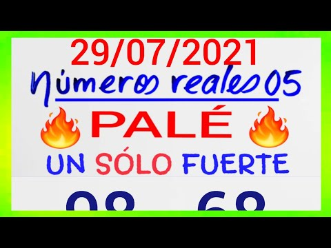 NÚMEROS PARA HOY 29/07/21 DE JULIO PARA TODAS LAS LOTERÍAS....!! Números reales 05 para hoy....!!