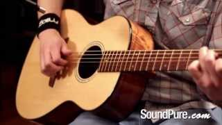 Goodall AKP-14 Koa Parlor 5528 Acoustic Guitar Demo