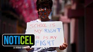 Padres y estudiantes exigen reapertura permanente de escuelas