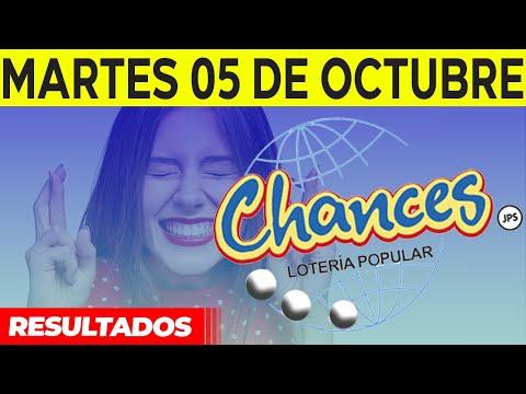 Sorteo Lotería popular Chances del Martes 5 de octubre del 2021