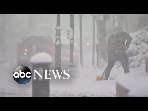 Parts of East Coast buried in snow and ice