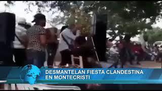 Desmantelan fiesta clandestina en Montecristi