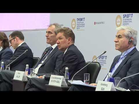 Выступление Алексея Миллера на Петербургском международном экономическом форуме