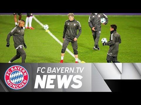 Bayern Munich prior to Champions League clash against Anderlecht