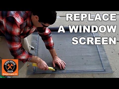 Custom Window Screens: How to Replace a Fiberglass Mesh Screen - by Home Repair Tutor