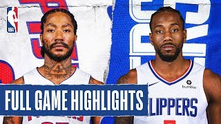 PISTONS at CLIPPERS | FULL GAME HIGHLIGHTS |  January 2, 2020