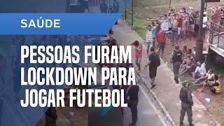 POLÍCIA PRENDE 95 PESSOAS EM BELÉM QUE FURARAM LOCKDOWN PARA JOGAR BOLA