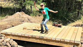 How To Build A Bridge Over A Creek For A Tractor 6