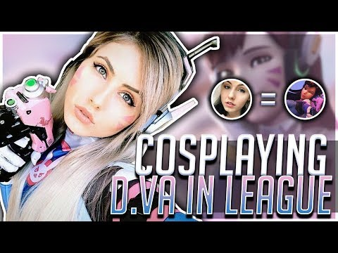 COSPLAYING D.VA IN LEAGUE | Nicki Taylor