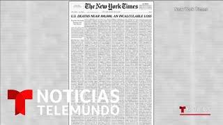 New York Times publica 1000 nombres de muertos por coronavirus   Noticias Telemundo