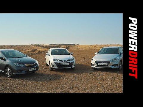 Toyota Yaris vs Honda City vs Hyundai Verna : Which ones the smarter choice? - PowerDrift