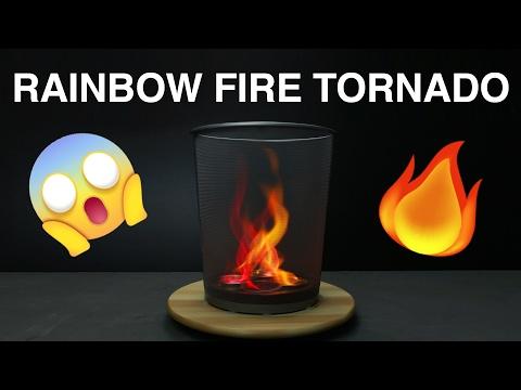 Rainbow Fire Tornado