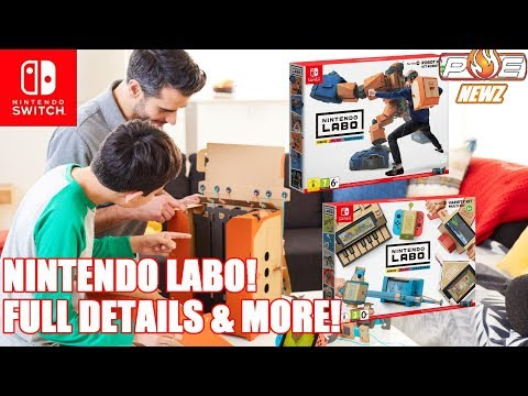 Nintendo Labo is Brilliant! - Full Details, Free Design Patterns, #1 Sales on Amazon & MORE!