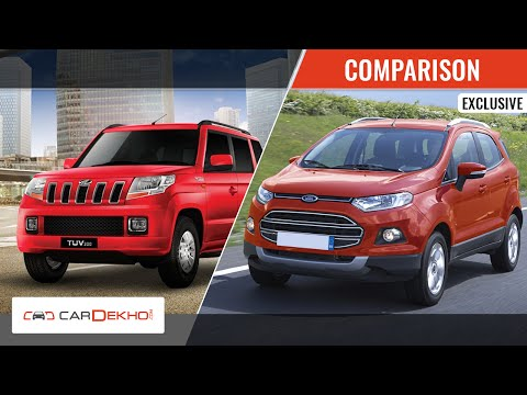2015 Mahindra TUV 3oo Vs Ford EcoSport | Comparison Video | CarDekho.com
