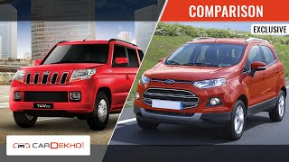 Ford Ecosport VS 2015 Mahindra TUV 3oo | Comparison Video | CarDekho.com