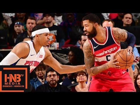 connectYoutube - Washington Wizards vs Detroit Pistons Full Game Highlights / Jan 19 / 2017-18 NBA Season