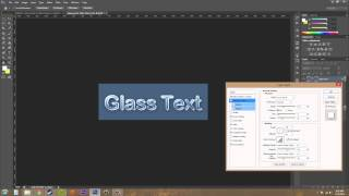 Photoshop CS6 Tutorial - 177 - Glass Like Text Effect
