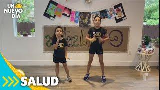 Mini entrenadoras enseñan ejercicios a los niños | Un Nuevo Día | Telemundo