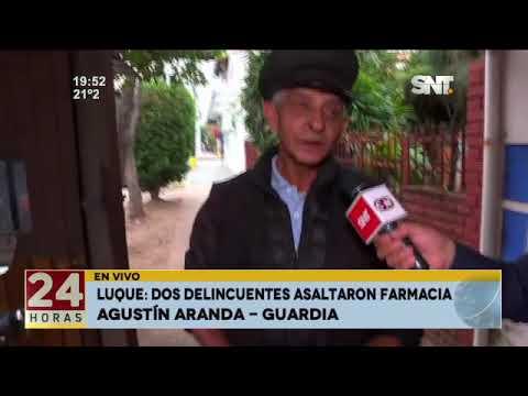 Inseguridad de cada día: Delincuentes asaltaron una farmacia en Luque