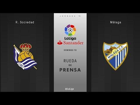 Rueda de prensa R. Sociedad vs Málaga
