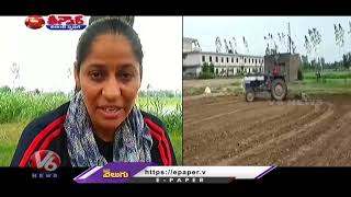 Farmer Amarjit Kaur Inspiring Others, Took care of the House   V6 Teenmaar News - V6NEWSTELUGU