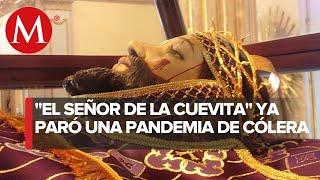 En Iztapalapa, piden al Señor de la Cuevita que los salve del coronavirus