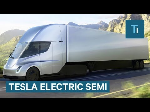 Elon Musk Gives First Look At Tesla's Electric Semi