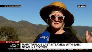 A look back at the last interview with the late veteran actress Mary Twala Mhlongo