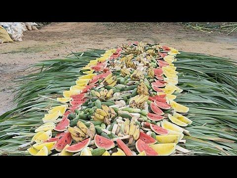 วันเกิดสีดอโตโต้-โต๊ะจีนผลไม้